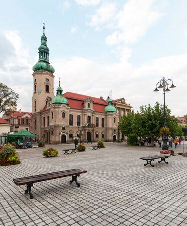 The architecture in the centre of Pszczyna