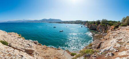 Amazing panorama scenery of Crete island.