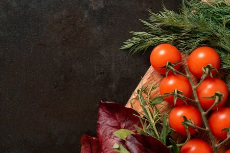 vegetables on a rustic metal background