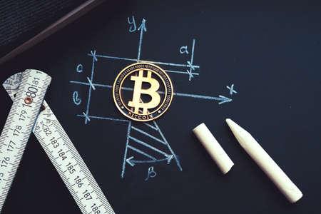 Bitcoin geometric harmony. Symbol of planning, rationality