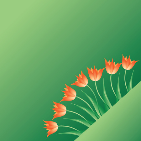 Tulips. Messengers of spring. Design for ads, greeting cards, invitations for the celebration.