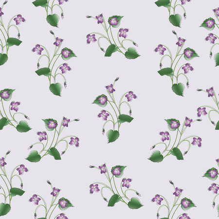 operetta: Delicate clumps of violets.The Symbol Of Montmartre. Seamless pattern. Design for textiles, tapestries, gift packaging for confectionery and perfumes. Illustration