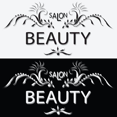 BEAUTY SALON Black And White Label Set The Logo Design Handmade Vintage