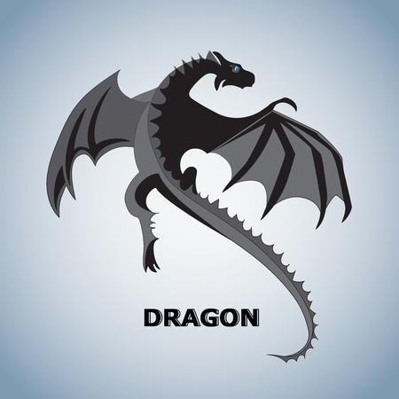 Vecteur de dragon volant Banque d'images - 85181920