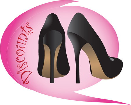 acquired: Sale. Discount shoes of dreamsThe image vector. An icon with the subject of dreams to advertise discounts.