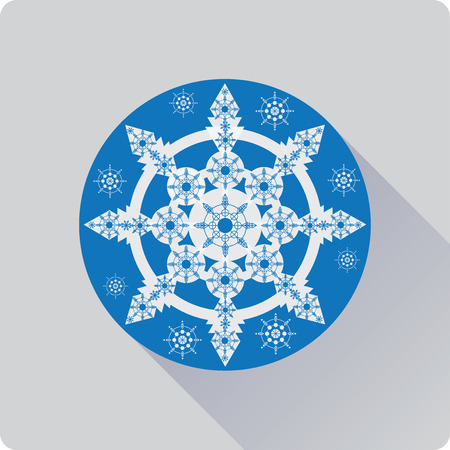 Blue snowflakes illustration.