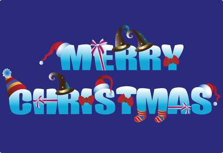 クリスマスの碑文。バナー、局留め、はがきの挨拶をデザインします。