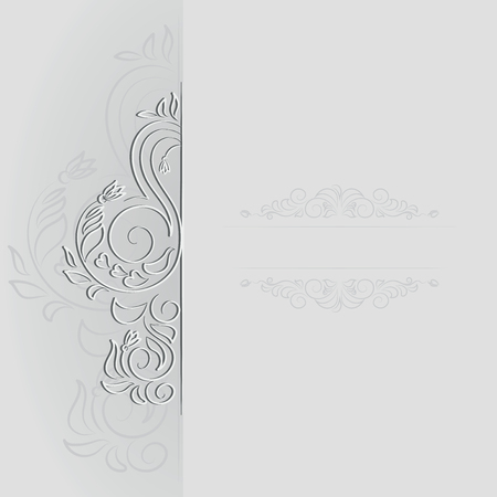 Banner decorated with spring ornament. Design for a banner, a poster, a wedding card, an engagement invitation, a concert program with space for text. Frame with a spring motif Ilustrace