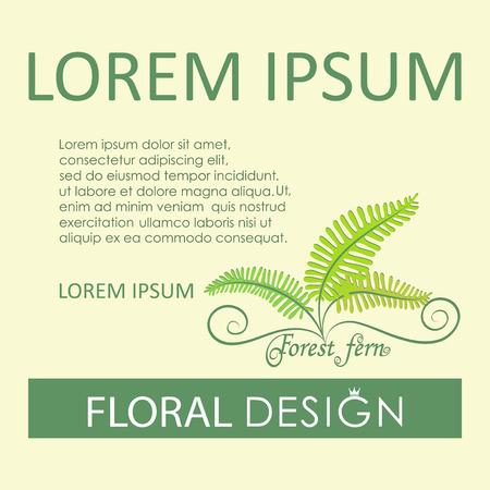 Forest fern Flower greenery illustration. 向量圖像