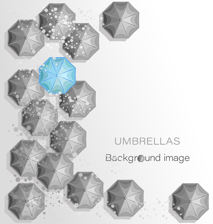 UMBRELLAS. Background image. Poster design with place for text Иллюстрация
