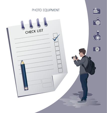 Positive checklist on a clipboard. Successful completion of business tasks. Flat Vector Illustration Иллюстрация