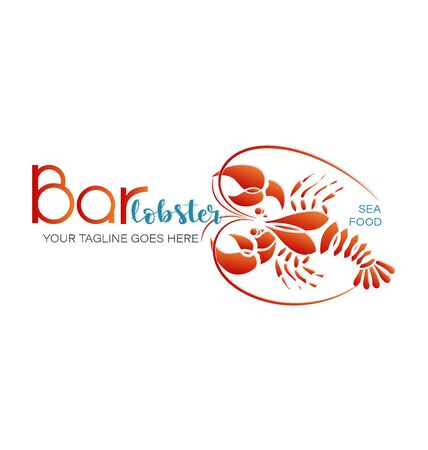 Lobster bar. SEAFOOD. Emblem Draft beer, bar, shop, emblems and labels. Corporate identity corporate identity design template. Separate on white background