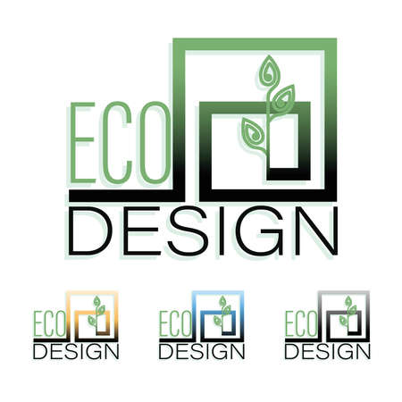 Sprout logo. ECO DESIGN. Vector plant. Set color logotype, emblems for companies, business projects