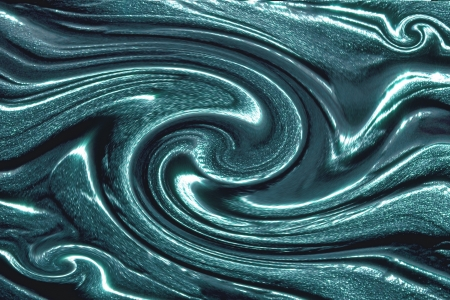 Abstract background with blue twisted flows photo