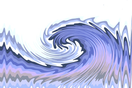 A blue wave in a stormy ocean
