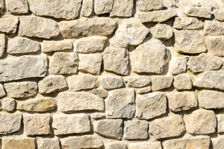 Background of masonry wall in gray tones Stock Photo
