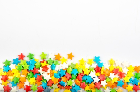 Multicolored stars isolated on a white background Stock Photo