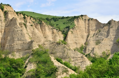 Melnik Sand Pyramids, formed by erosion caused by wind and rainfalls