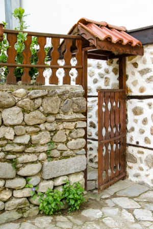 Open wooden door of a house in Melnik, Bulgaria Stock Photo - 20863056