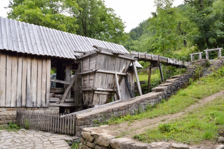 Old saw mill used for plank sawing in Etara, Bulgaria photo