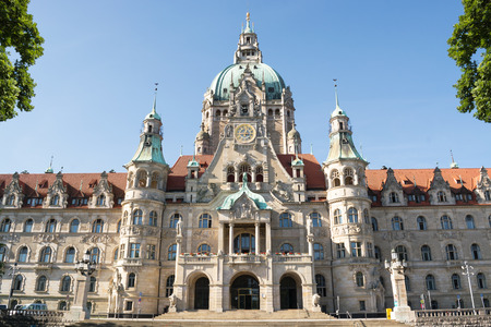 federal hall: Landscape of the New Town Hall in Hanover, Germany
