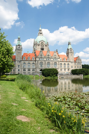 Landscape of the New Town Hall in Hanover, Germany