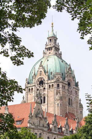 Detail of the New Town Hall in Hanover, Germany photo