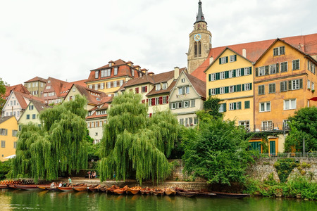 View of the old town of Tuebingen, Germany