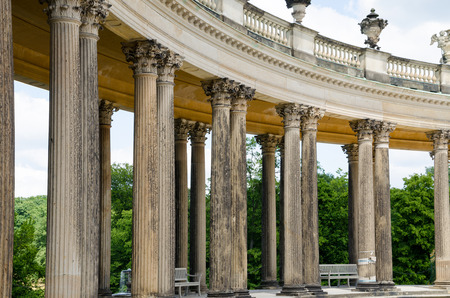Colonnade from the 18th century in Potsdam, Brandenburg, Germany photo