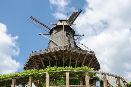 Old Windmill in Sanssouci Park, Potsdam, Germany, Europe Stock Photo - 27917502