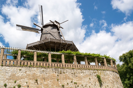 Old Windmill in Sanssouci Park, Potsdam, Germany, Europe photo