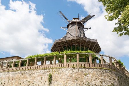 Old Windmill in Sanssouci Park, Potsdam, Germany, Europe Stock Photo - 27917544