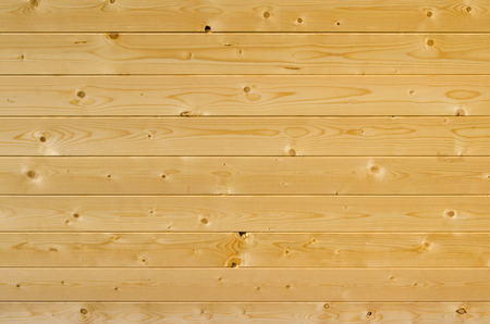 laths: Background of horizontal light brown wooden planks Stock Photo