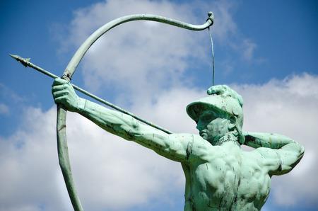 Archer statue in Sanssouci Park, Potsdam, Germany, Europe