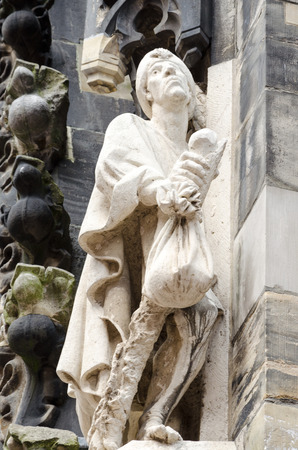 Detail of the Marktkirche, Market church, Hannover, Germany, Europe
