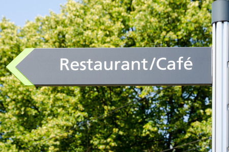 Sign of a cafe restaurant, Hannover, Germany photo