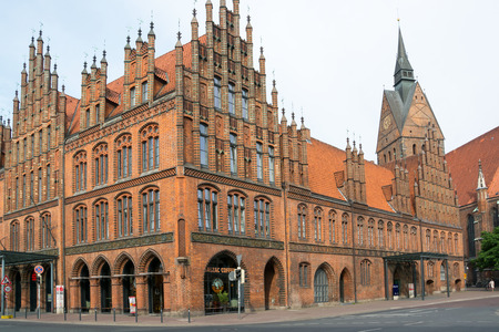 federal hall: Old town hall and Marktkirche, Hannover, Lower Saxony, Germany Editorial