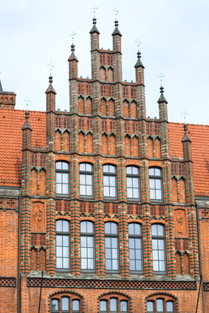 pinnacle: Pinnacle gables at the Old Town Hall, Hannover, Lower Saxony, Germany, Europe Stock Photo