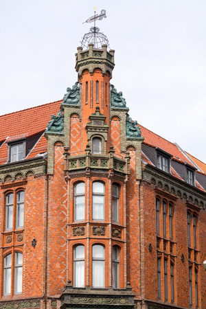 Historic building of the Raths-Apotheke  Dom-Apotheke , pharmacy building located nearby to the Old Town Hall at the Karmarschstrasse in Hannover, Lower Saxony, Germany, Europe  photo