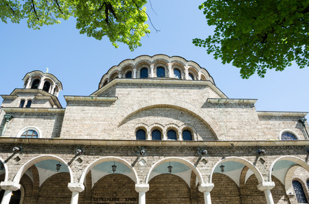 suffered: Sveta Nedelya (Holy Sunday Church) is an Eastern Orthodox church in Sofia. Sveta Nedelya is a medieval church that has suffered destruction through the ages and has been reconstructed many times. The present building of the temple is among the landmarks o
