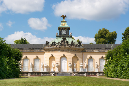 Facade of Picture Gallery in Park Sanssouci, Potsdam, Germany Editorial