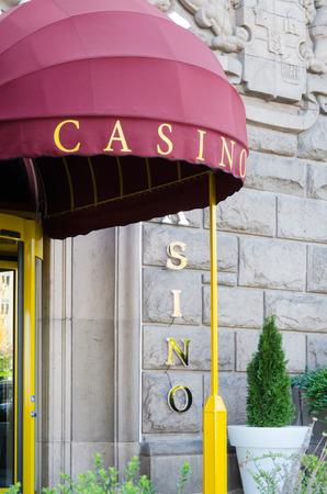 Entrance to a casino, Sofia, Bulgaria Editorial