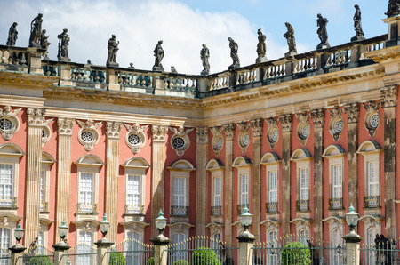 begun: The New Palace is a palace situated in Sanssouci Royal Park in Potsdam, Germany. The building was begun in 1763 under Frederick the Great and was completed in 1769. Editorial