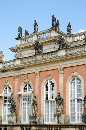 The New Palace is a palace situated in Sanssouci Royal Park in Potsdam, Germany. The building was begun in 1763 under Frederick the Great and was completed in 1769.