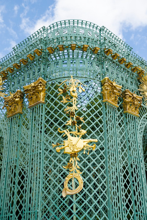Detail of Royal pavilion in Schloss Sanssouci in Potsdam, Germany