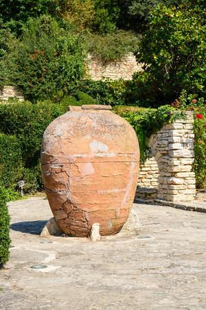 balchik: Old big clay pots in Balchik Botanical Garden, Bulgaria