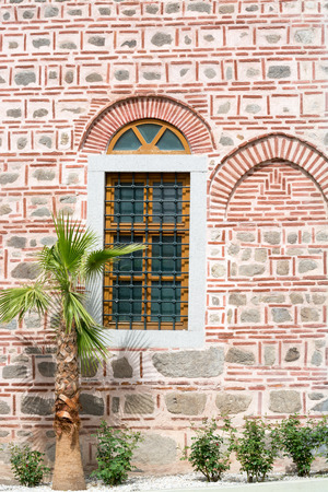 Detail of the exterior of the Dzhumaya Mosque. It is located in Plovdiv, Bulgaria and it was built in 1363?1364. It was called Ulu Dzhumaya Mosque, i.e. main Friday mosque. photo