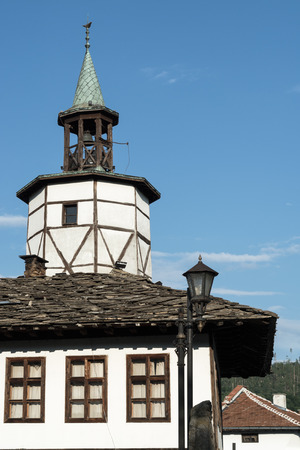 Old clock tower, Tryavna, Bulgaria, Balkans, Eastern Europe. Stock Photo