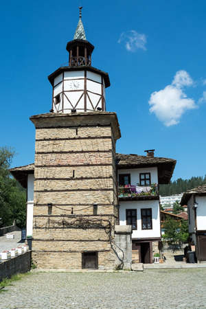 balkans: Old clock tower, Tryavna, Bulgaria, Balkans, Eastern Europe. Stock Photo