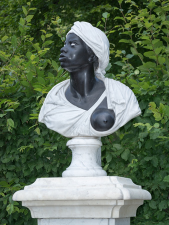 Baroque statue of an Afro-American woman (18 century), Potsdam, Brandenburg, Germany